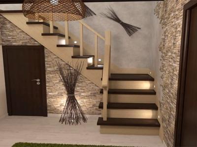 Лестницы на второй этаж в загородном доме